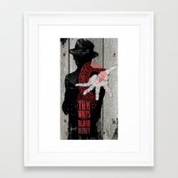 tom waits Framed Art Prints featuring Tom Waits by J.C.D