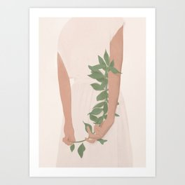 Holding on to a Branch Art Print