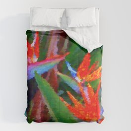 Bird of Paradise Family Abstract Comforters