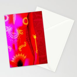 Quiverish Black Light Boho 6 Stationery Cards