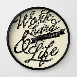 Work Hard Wall Clock