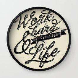 Work Hard Wall Clock
