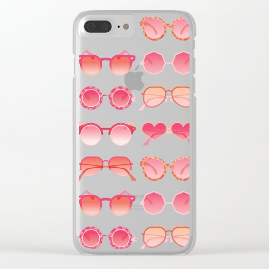 Sunglasses Collection – Pink Ombré Palette Clear iPhone Case