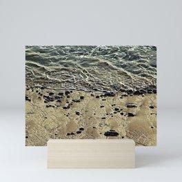 Seashore Ebbing Wave Sand Coastal Beach Mini Art Print