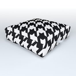 Black and white houndstooth pattern Outdoor Floor Cushion