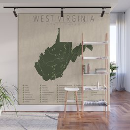 West Virginia Parks Wall Mural