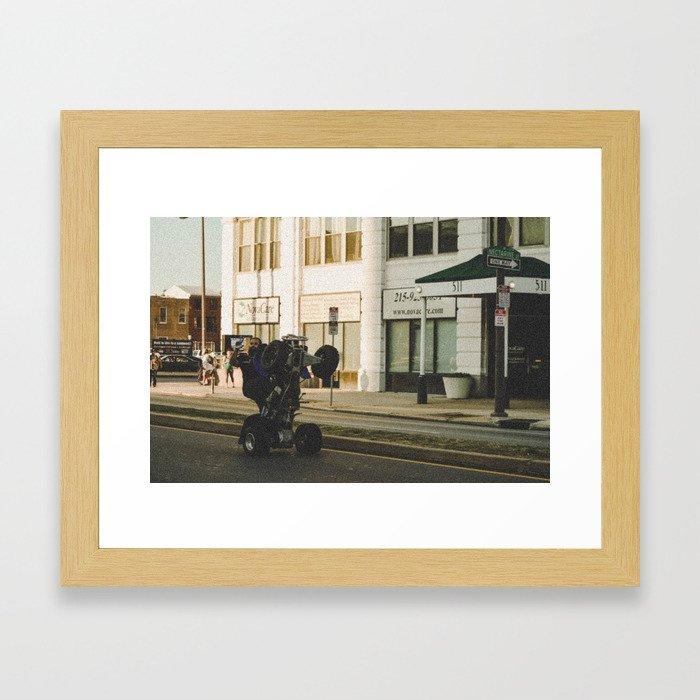 Life on Broad Framed Art Print