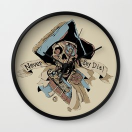 One Eyed Willy Never Say Die - The Goonies Wall Clock
