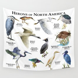 Herons of North America Wall Tapestry