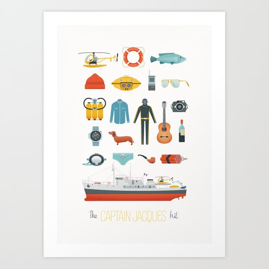 The Captain Jacques Kit Art Print