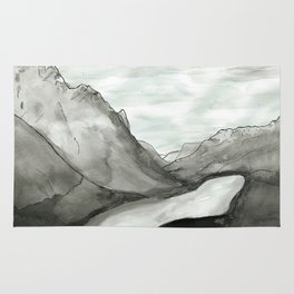 Ink mountains Rug