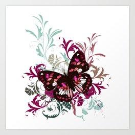 Butterfly summer vector design Art Print