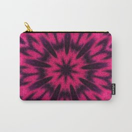 Spotted Leopard Pink Kaleidoscope Carry-All Pouch