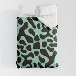 Green and Black Poison Dart Frog Comforters