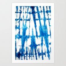Shibori Lines Art Print