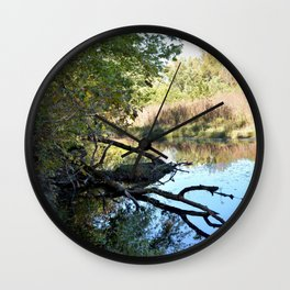 Where Canoes and Raccoons Go Series, No. 2 Wall Clock