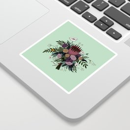 Beetles and Flowers Sticker