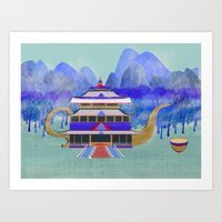 There Once Was A Palace In China Art Print