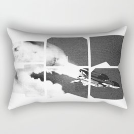 ROCKIT (Black on White) Rectangular Pillow