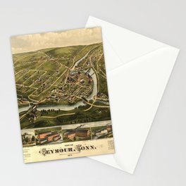Aerial View of Seymour, Connecticut (1879) Stationery Cards