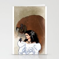 beauty and the beast Stationery Cards featuring Beauty and Beast by Adrien ADN Noterdaem