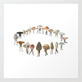 legs and mushrooms Art Print