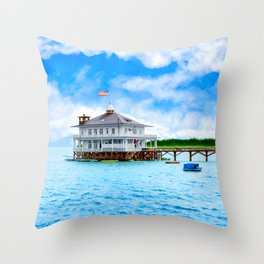 Mobile Yacht Club - Alabama's Historic Gulf Coast Throw Pillow