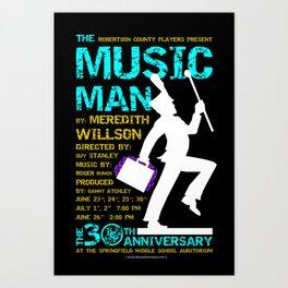 The Music Man Art Print