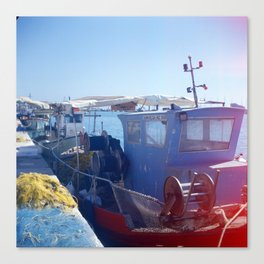 Fishing boats - Zakynthos, Greece Canvas Print