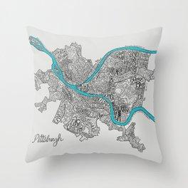 Pittsburgh Neighborhoods Throw Pillow