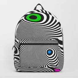 Black wavy lines color accents Backpack