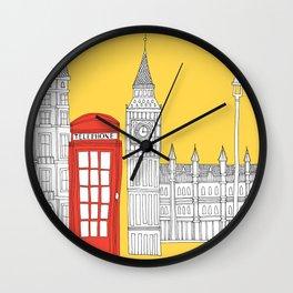 Capital Icons 4 // London Red Telephone Box Wall Clock