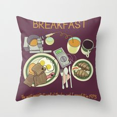 Breakfast, the Most Important Meal of the Day Throw Pillow