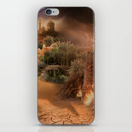Desert paradise on the edge of Hell - Sandstorm iPhone Skin