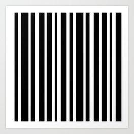 Black Stripe Pattern Home Decor | Black and White | Minimalism Art Print