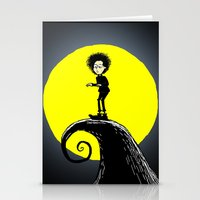 tim shumate Stationery Cards featuring Tim Burton by David Hurley