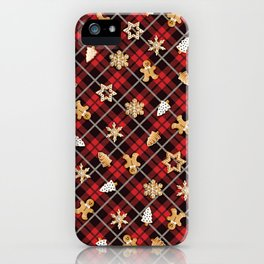 Gingerbread Red iPhone Case