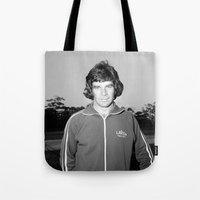 70s Tote Bags featuring Johnny 70s by SheilasWogsPoofters