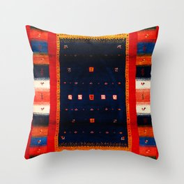 N40 - Colored Moroccan Epic Traditional Bohemian Artwork Throw Pillow