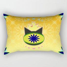 Flaming Feline Eye Rectangular Pillow