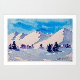 Snowy Georgian mountains Art Print