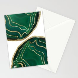 Emerald Agate Gold Glam #1 #gem #decor #art #society6 Stationery Cards