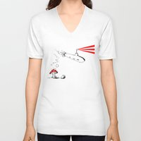 submarine V-neck T-shirts featuring Submarine by Liz Palo