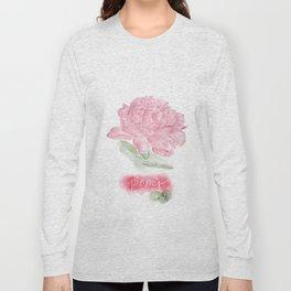 Botanical Brushstrokes ● Peony Pastel Long Sleeve T-shirt