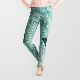 The Open Door Mint Palette Leggings