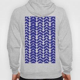 Hand-Drawn Herringbone (Navy Blue & White Pattern) Hoody