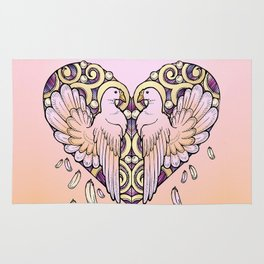 Lover Pigeons - Royal Heart Rug