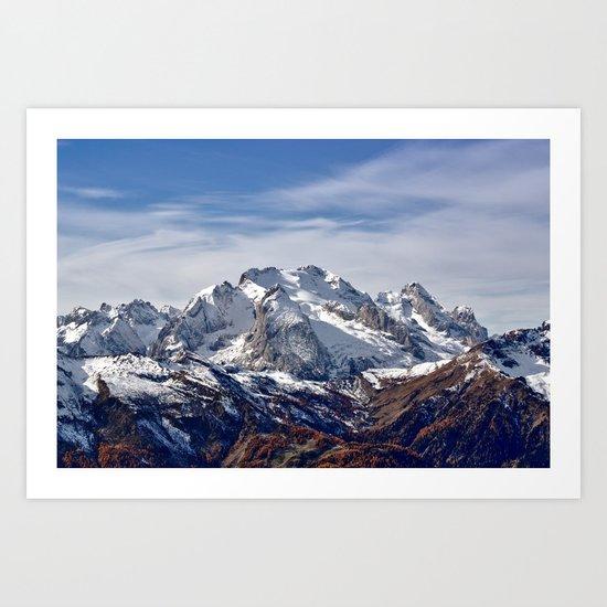 Mountain Crashing Art Print