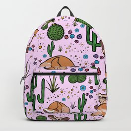 Fennec Foxes in Pink Backpack
