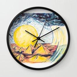 X voYages de Zed (toile 9 - série 1) Wall Clock